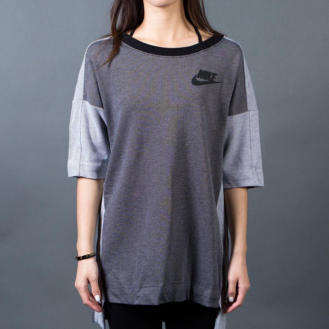 Nike Women Birdseye Crew Raglan (black / white / black)