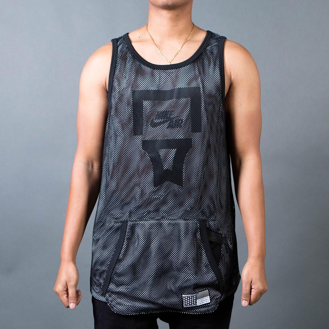 Nike Men Air Pivot V3 Mesh Tank Top (black / white / black)