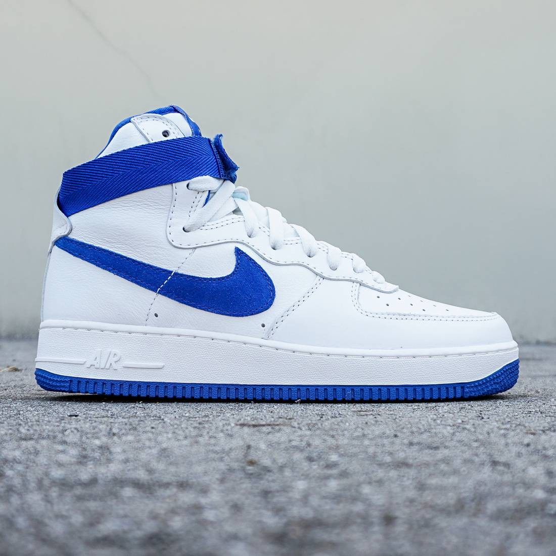 new products 9403f b55b9 Nike Men Air Force 1 High Retro QS white summit white game royal