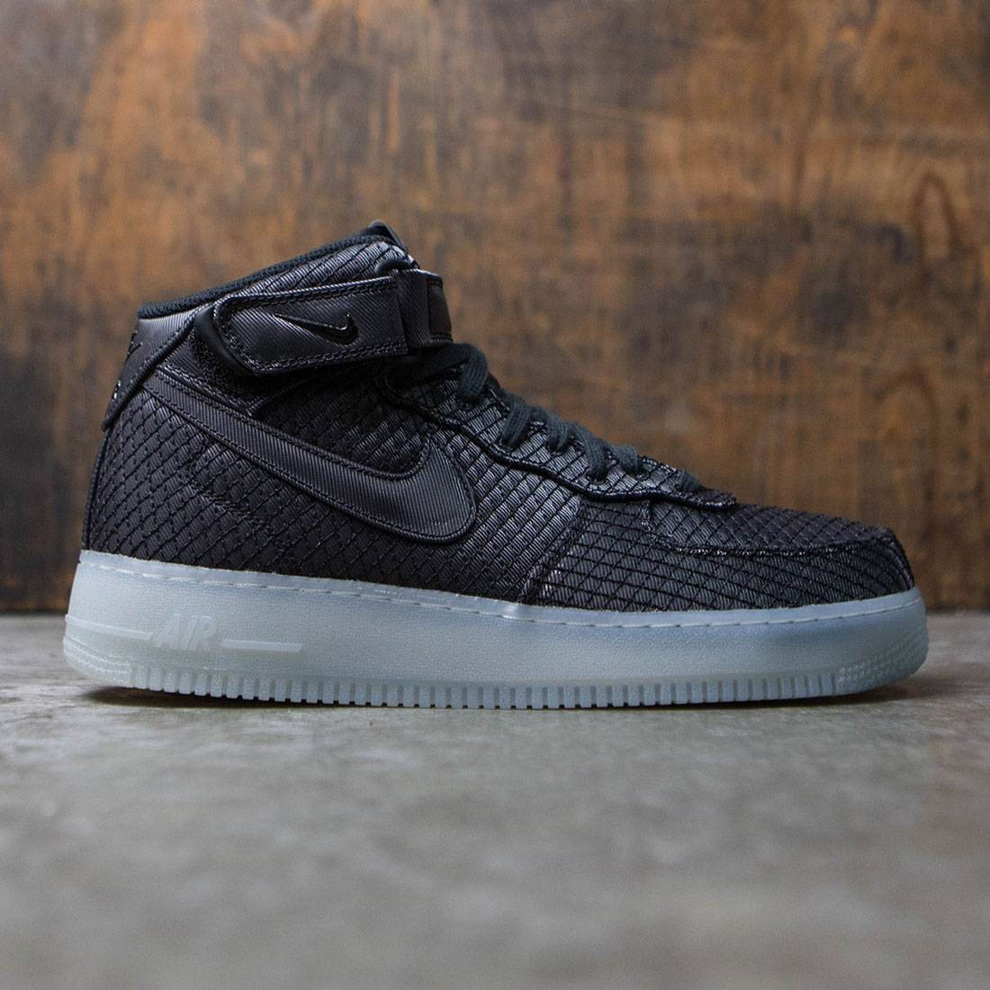6535f7c32b2b nike men air force 1 mid  07 lv8 black black white metallic silver