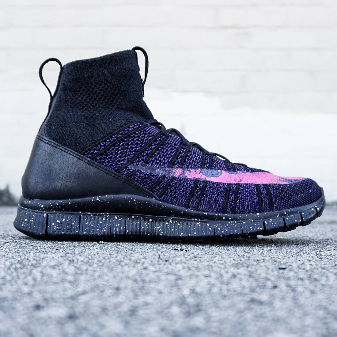 Nike Men Free Flyknit Mercurial (black  bright crimson  viol