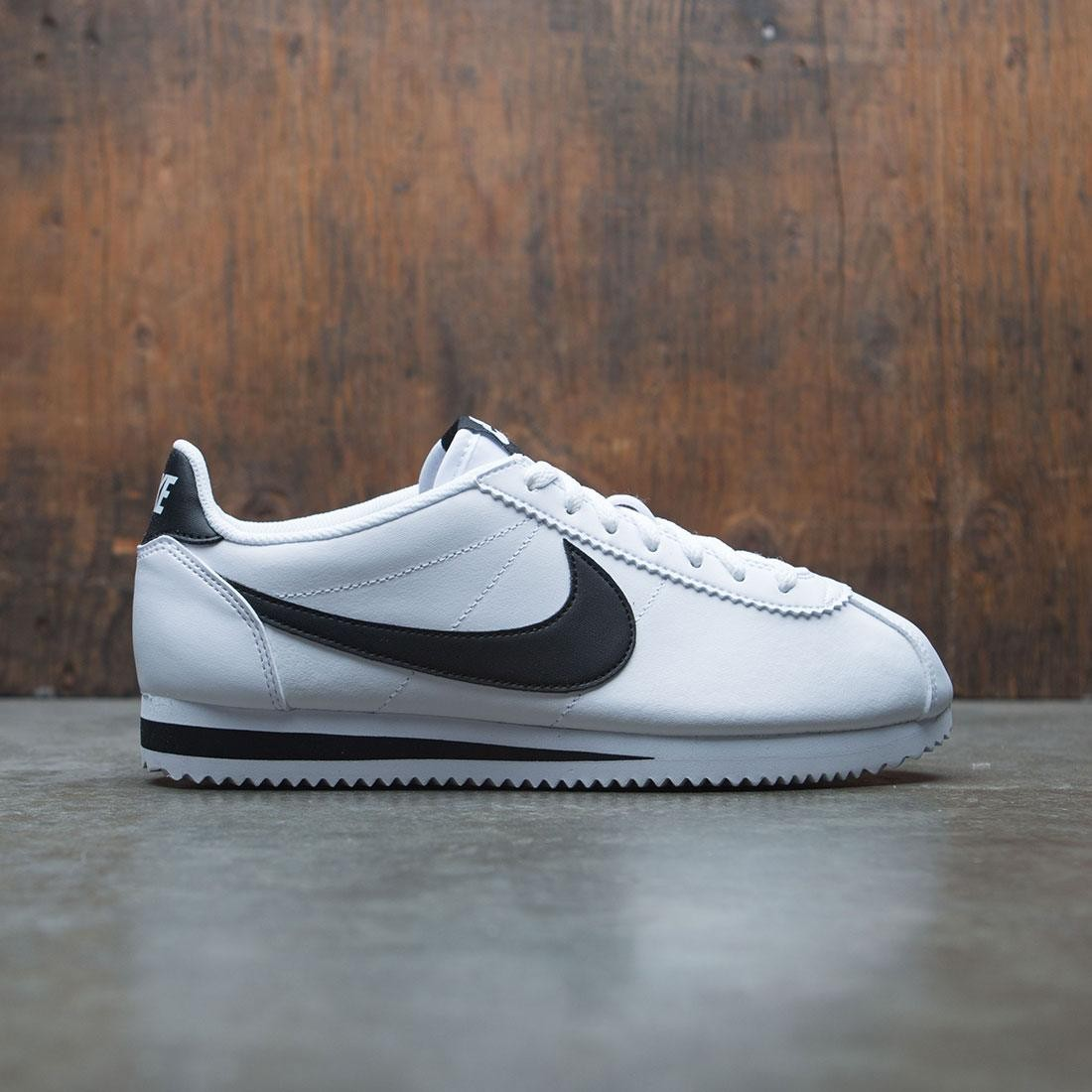 new concept 51c4f f4327 nike women classic cortez leather white black white
