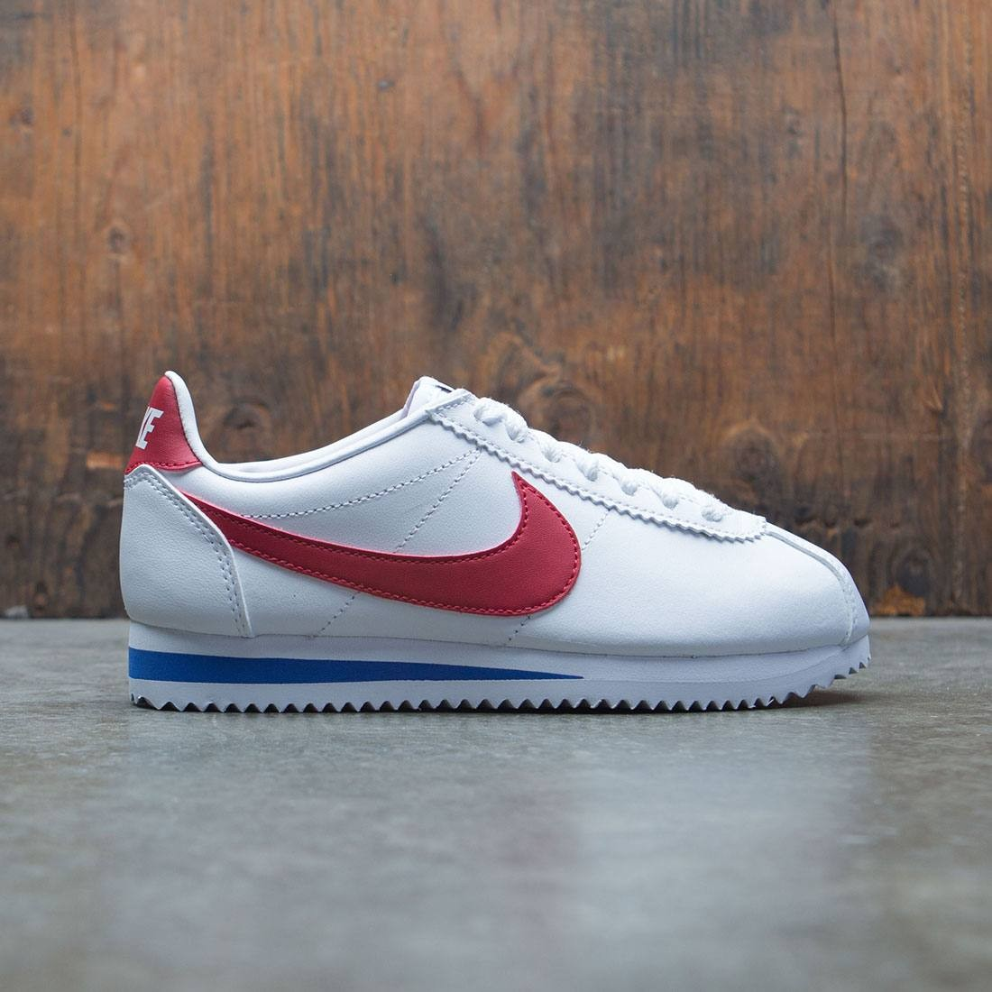 low priced 300a5 f0015 nike women classic cortez leather white varsity red varsity royal