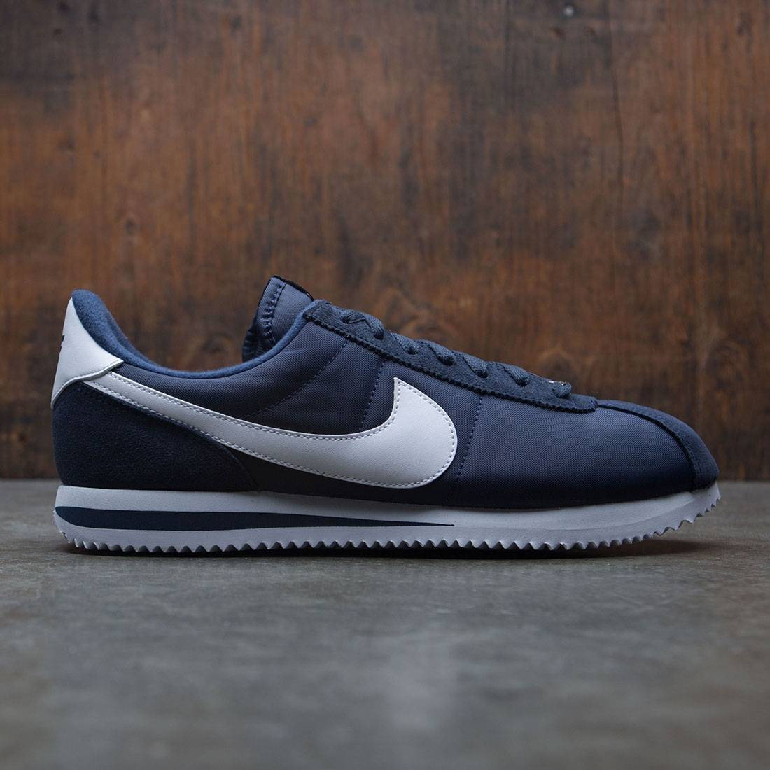 huge discount 359fc 2f06c Nike Men Cortez Basic Nylon (navy / obsidian / white / metallic silver)