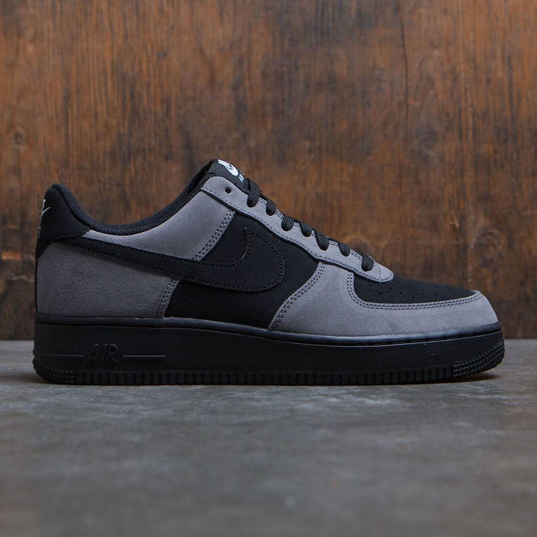 big sale e27dd d507d nike men air force 1 gray black white black