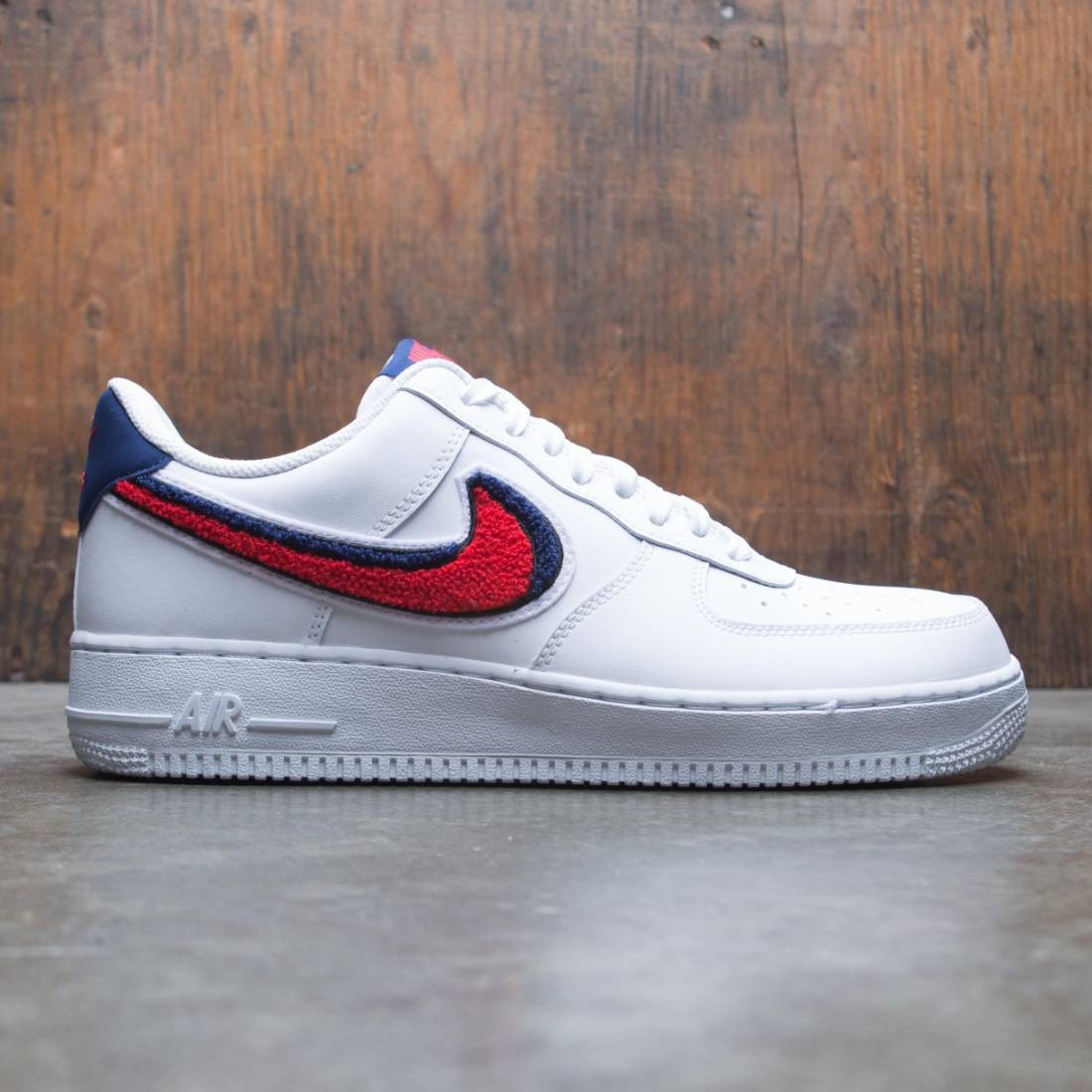 abf38273c0a Nike Men Air Force 1 Low 07 Lv8 white / university red-blue void