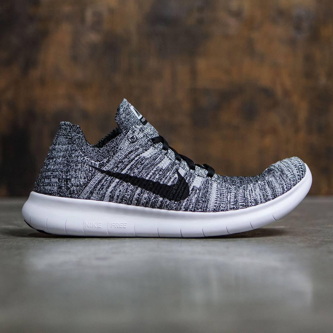 Nike Men Free Rn Flyknit Running (white / black)