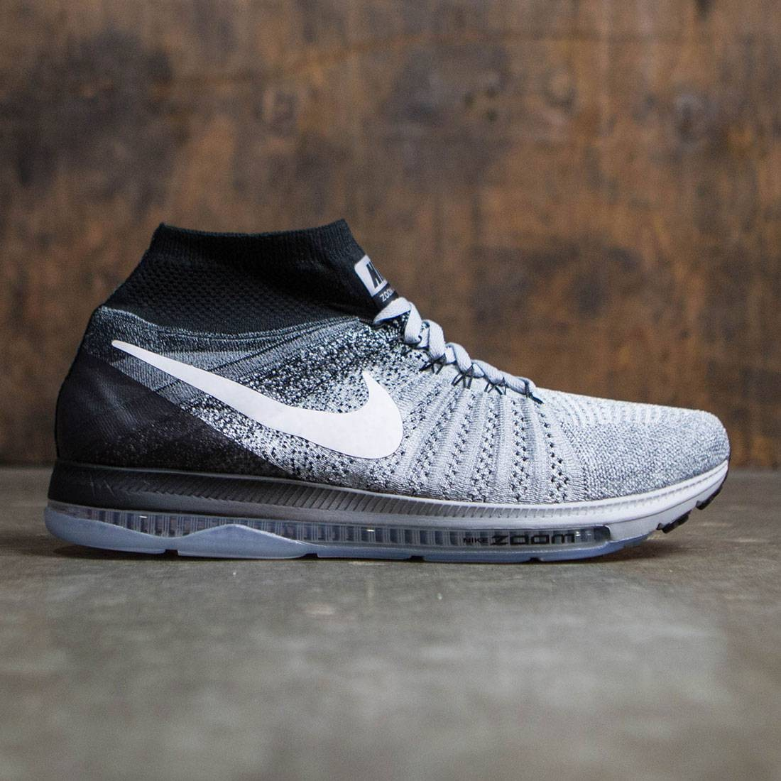 27ee442c5a10 Nike Men Zoom All Out Flyknit Running (wolf grey   white-black-pure  platinum)