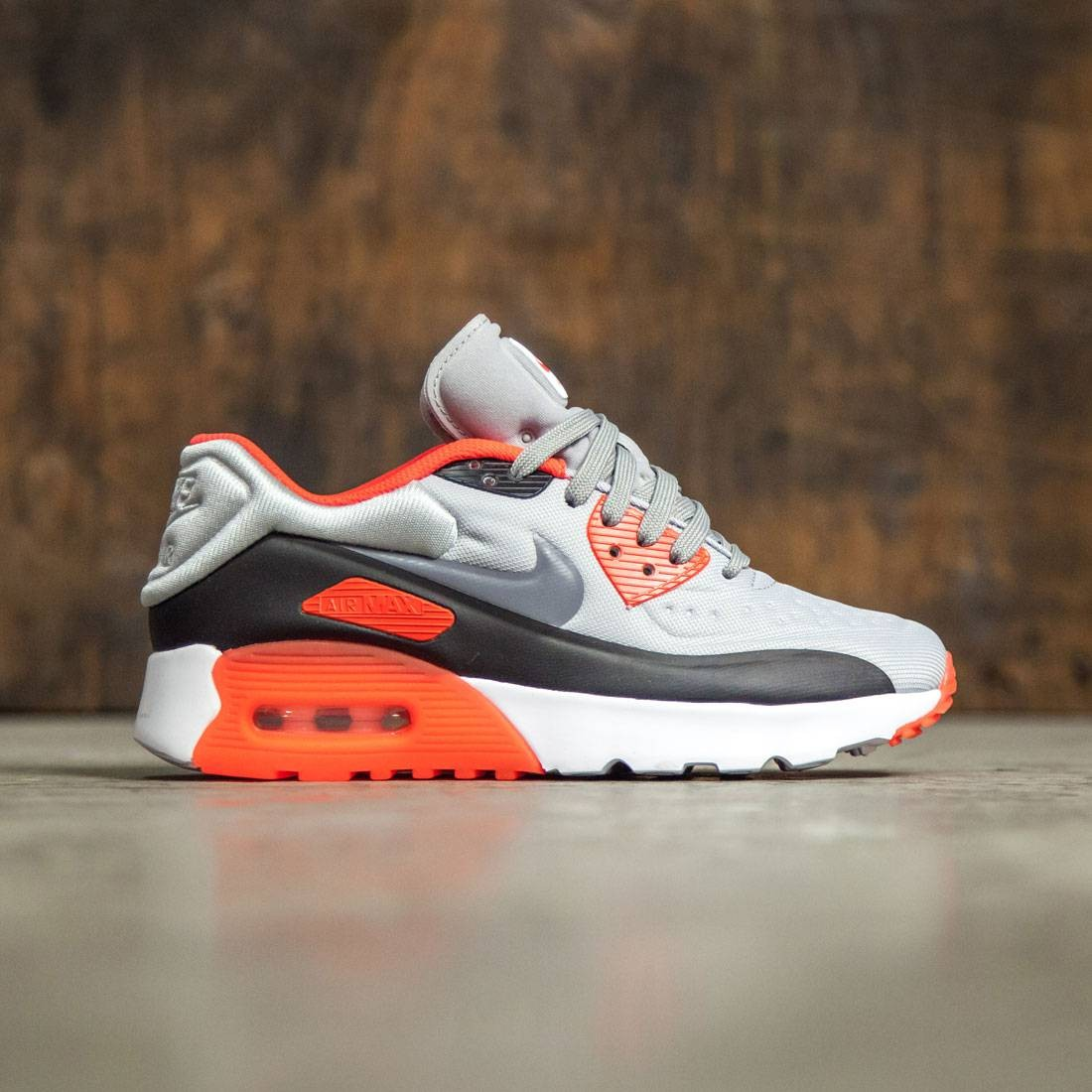 newest e7586 a1257 Nike Big Kids Nike Air Max 90 Ultra Se (Gs) (wolf grey   cool grey-bright  crimson-black)