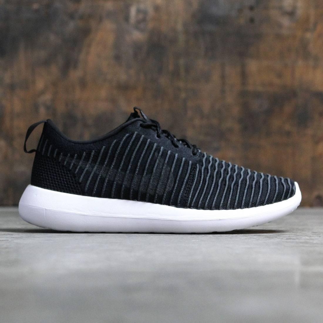 Nike Men Roshe Two Flyknit (black   dark grey-white-volt) a85b64c04e84