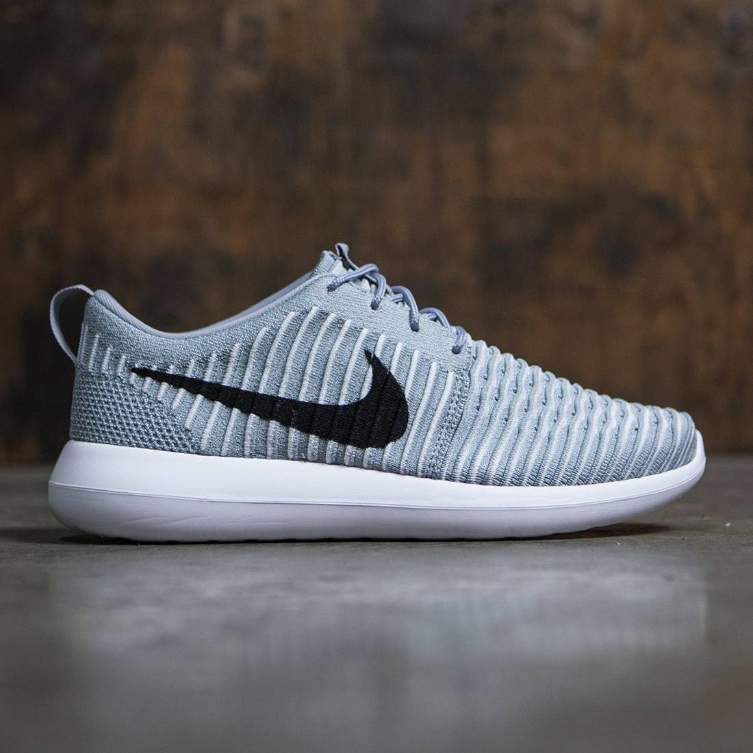 7667b0d1b4f9 Nike Men Roshe Two Flyknit (wolf grey   black-white-gamma blue)