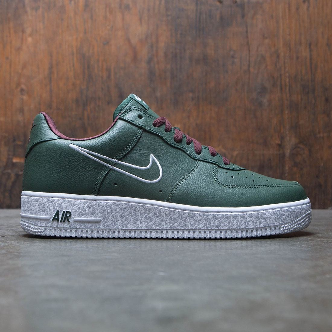 new arrive pick up discount Nike Men Air Force 1 Low Retro - Hong Kong (green / deep forest / white-el  dorado)