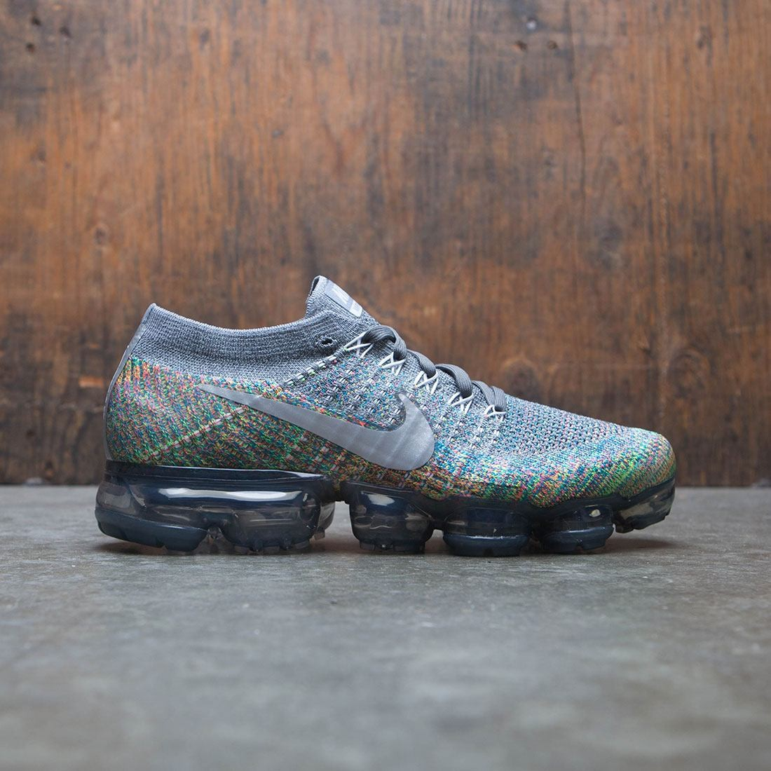 big sale 9abd4 363e7 Nike Women Air Vapormax Flyknit Running (dark grey / reflect silver-blue  orbit)