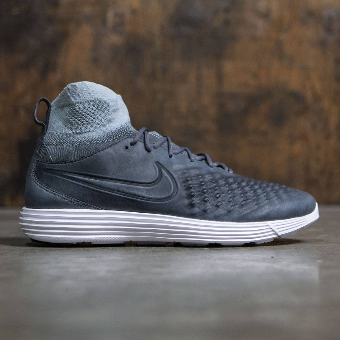 hot sale online 2455e d9979 Nike Men Lunar Magista Ii Flyknit (dark grey / dark grey-wolf grey-white)