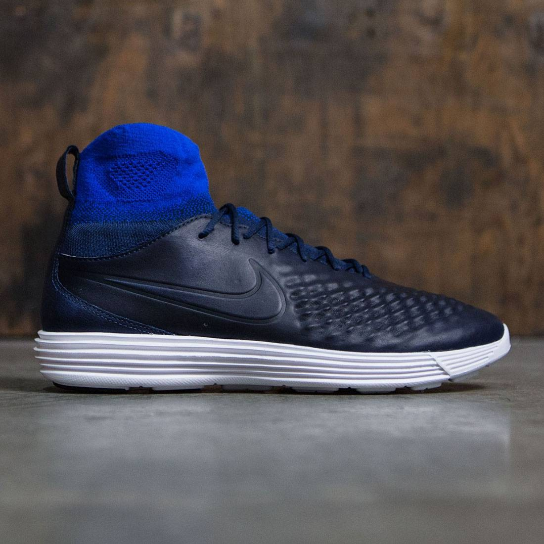 bf77083791466 ... promo code for nike men lunar magista ii flyknit college navy college  navy racer blue cac77