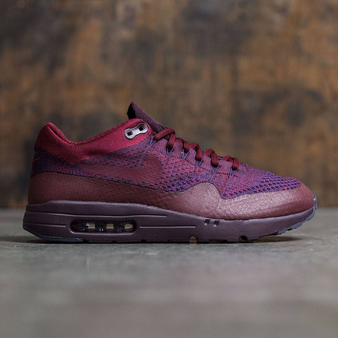 half off 93473 e0b02 Nike Men Air Max 1 Ultra Flyknit (grand purple / team red-deep burgundy)