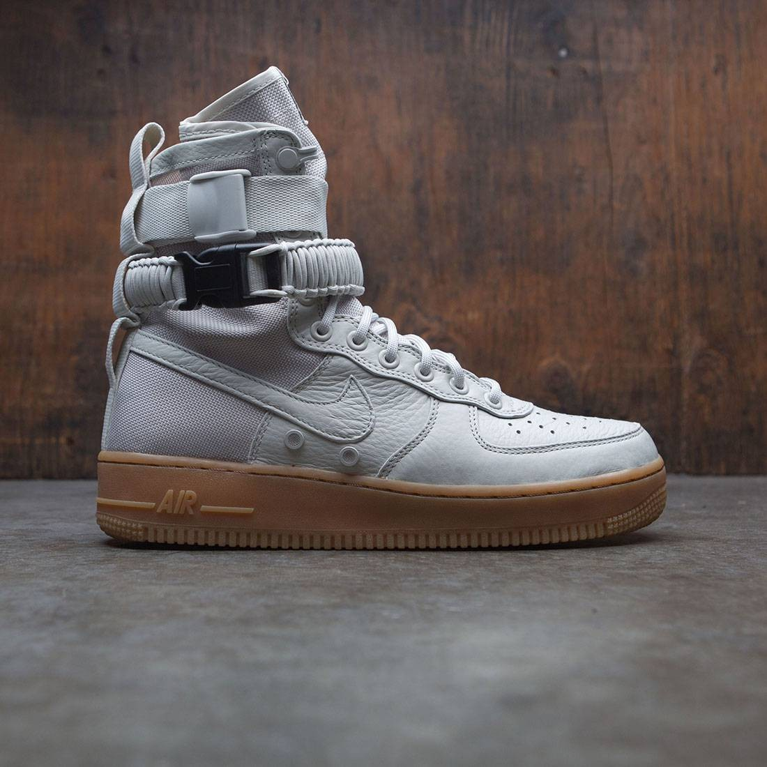 nike women sf air force 1 grey light bone gum med brown 0145c04af5