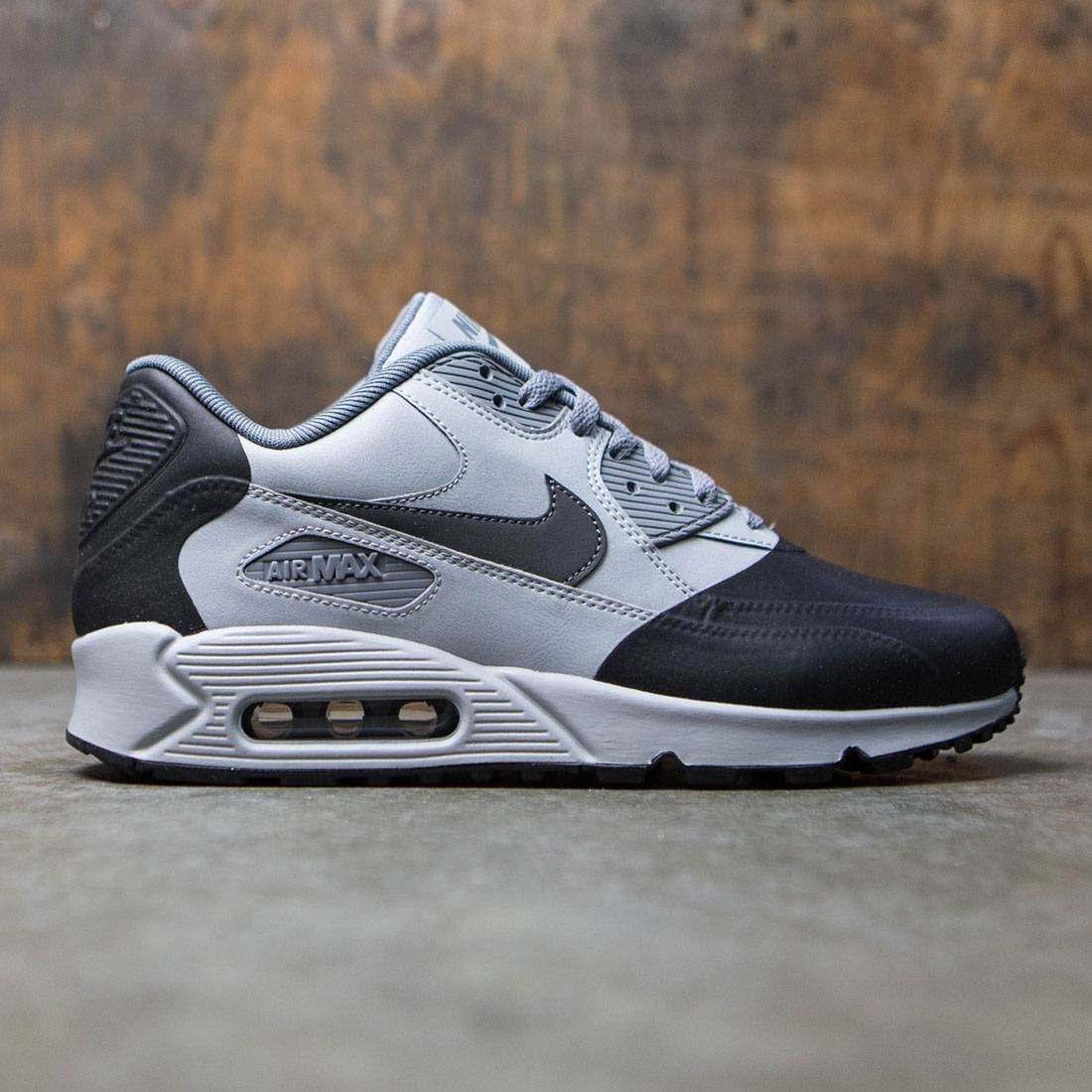6900f0423518 Nike Men Air Max 90 Premium Se grey wolf grey anthracite-cool grey-black