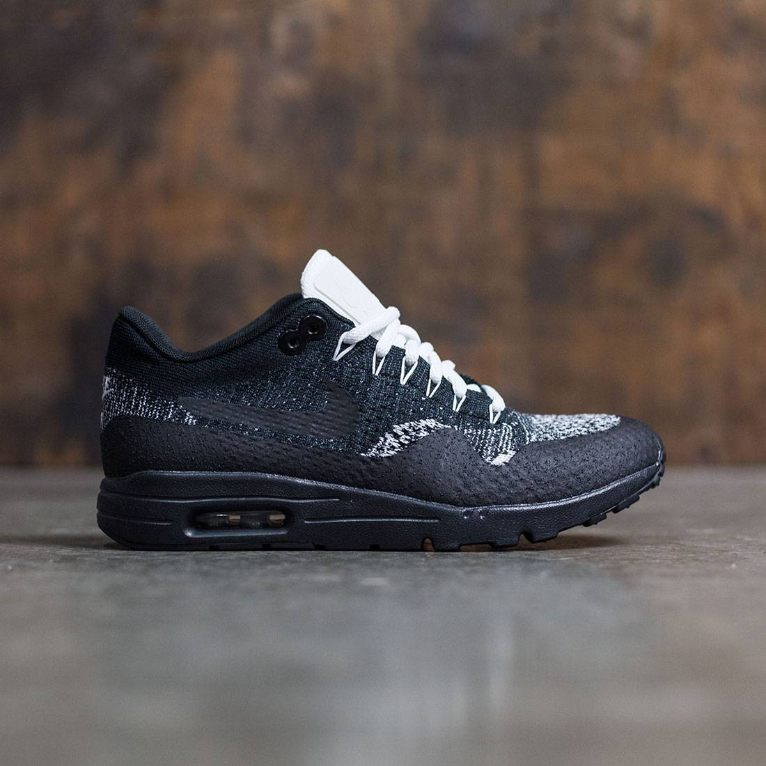 new arrival 8bba9 57ff1 Nike Women W Air Max 1 Ultra Flyknit (black / anthracite-white-metallic  silver)