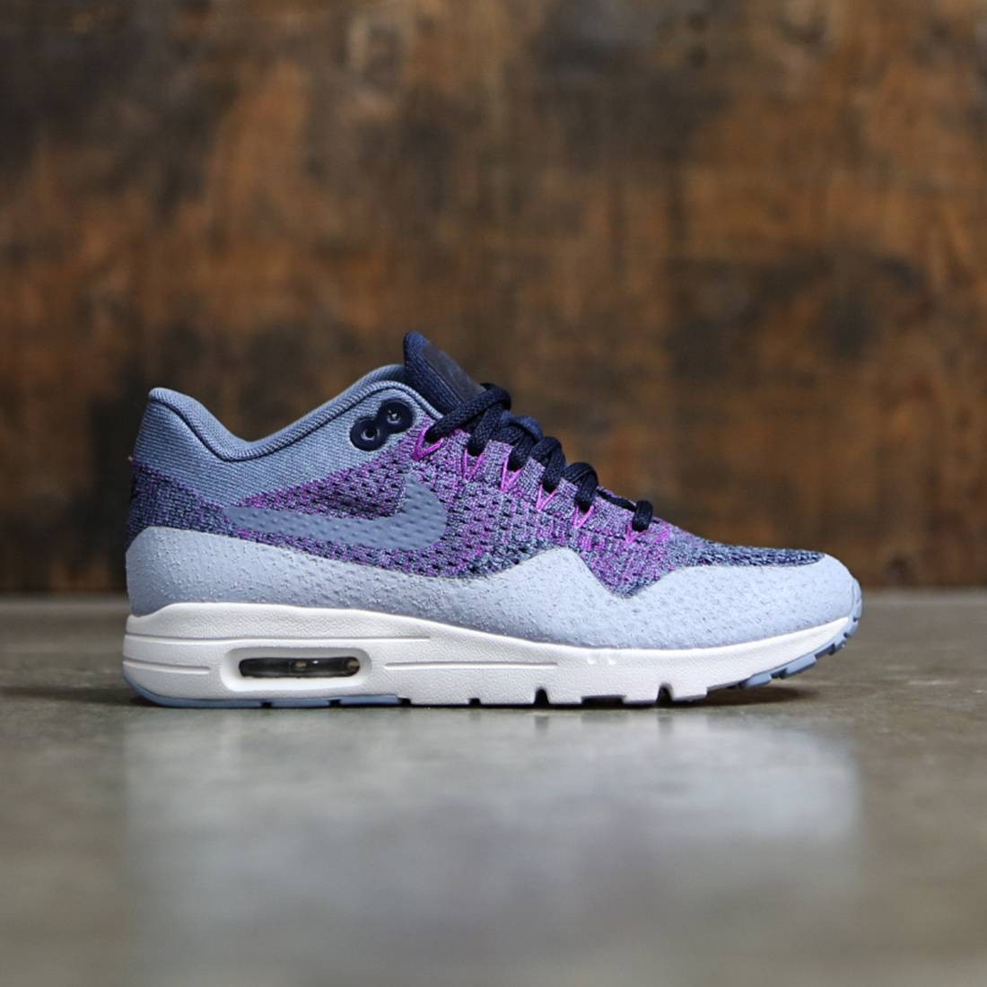 sold worldwide biggest discount official images Nike Women W Air Max 1 Ultra Flyknit (ocean fog / ocean fog-college navy)