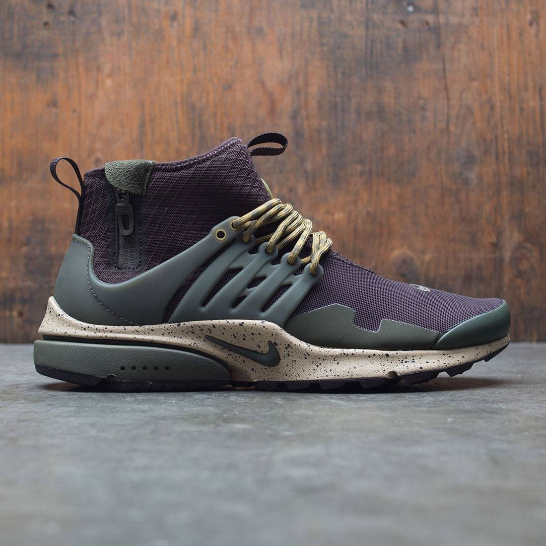 wholesale dealer c39ed 6b3fa ... ireland nike men air presto utility mid top brown velvet brown cargo  khaki mushroom f5bd8 9eb22