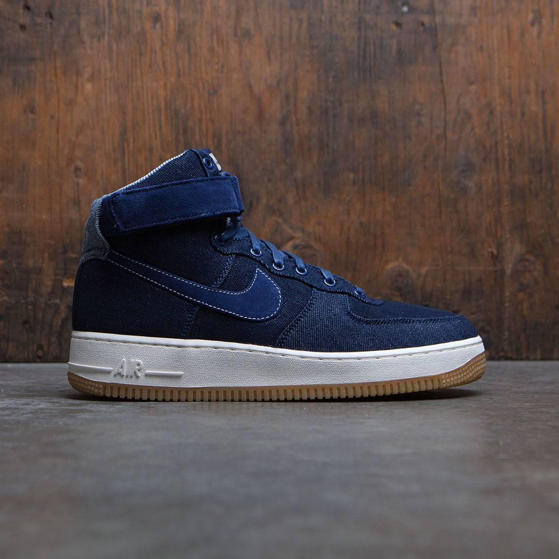 Nike Women Air Force 1 Hi Se (binary blue / muslin-sail-gum light brown)