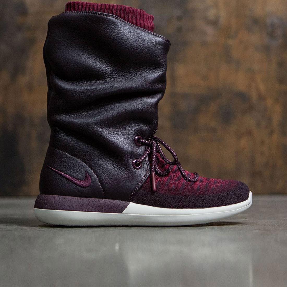 newest 51032 758c5 Nike Women Roshe Two Flyknit Hi (deep burgundy   deep burgundy-team red)
