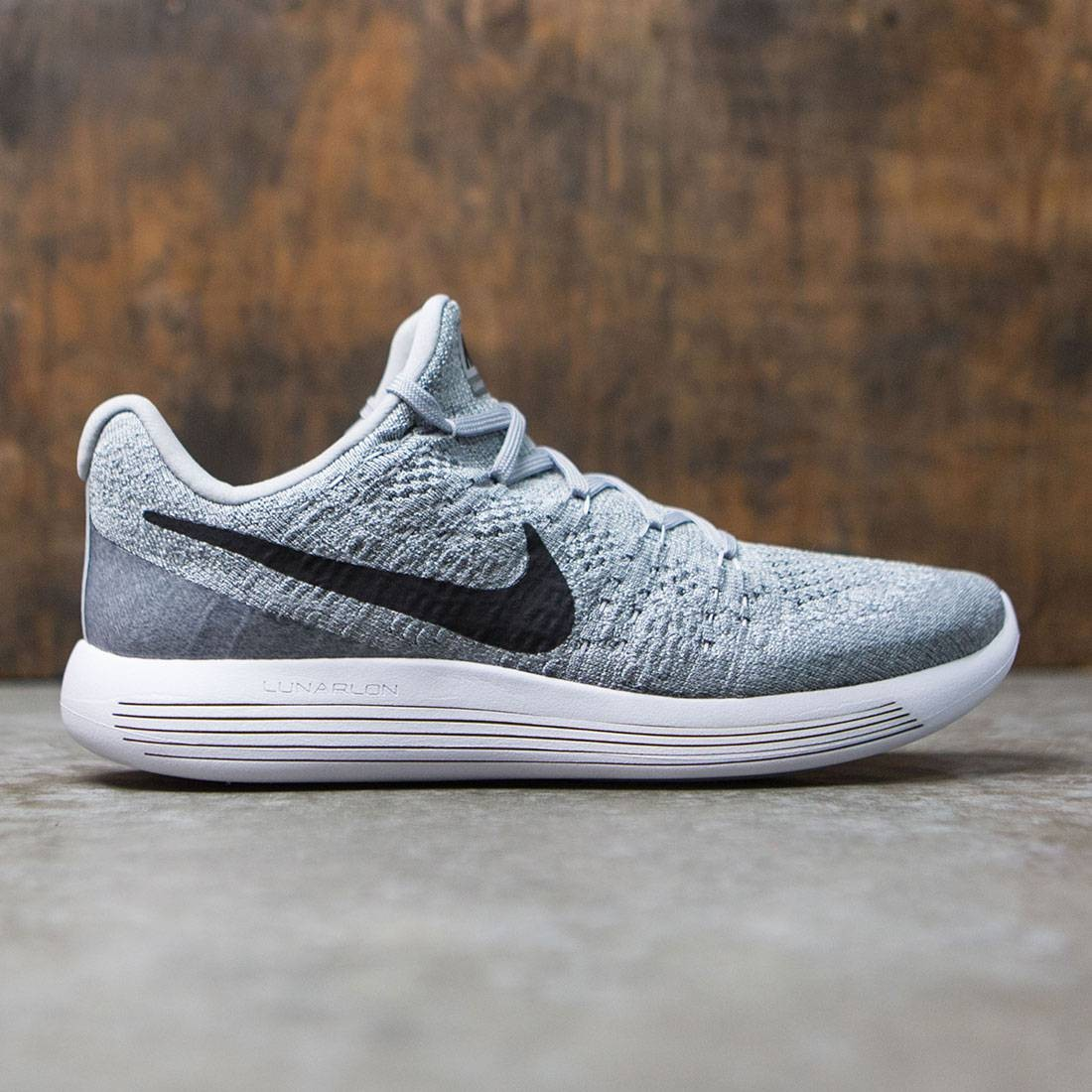 36b2e62d554 Nike Men Lunarepic Low Flyknit 2 Running (wolf grey   black-cool grey-pure  platinum)
