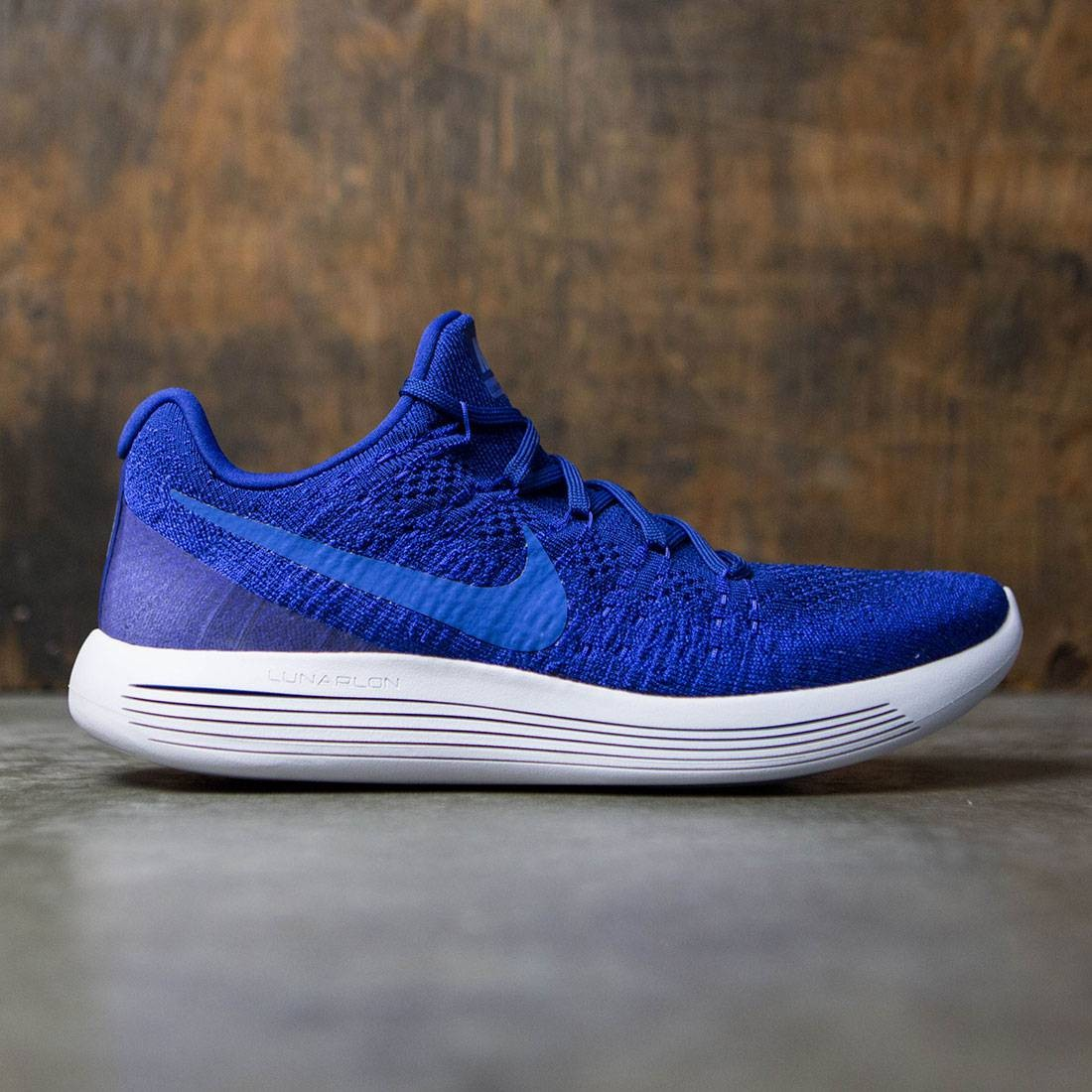 quality design f7c4b ed0e0 nike men lunarepic low flyknit 2 running deep royal blue medium blue