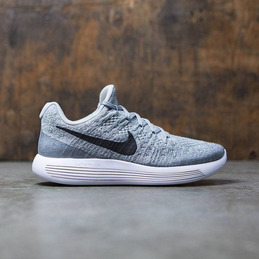 huge discount 07348 5ff25 Nike Women Lunarepic Low Flyknit 2 Running (wolf grey   black-cool  grey-pure platinum)