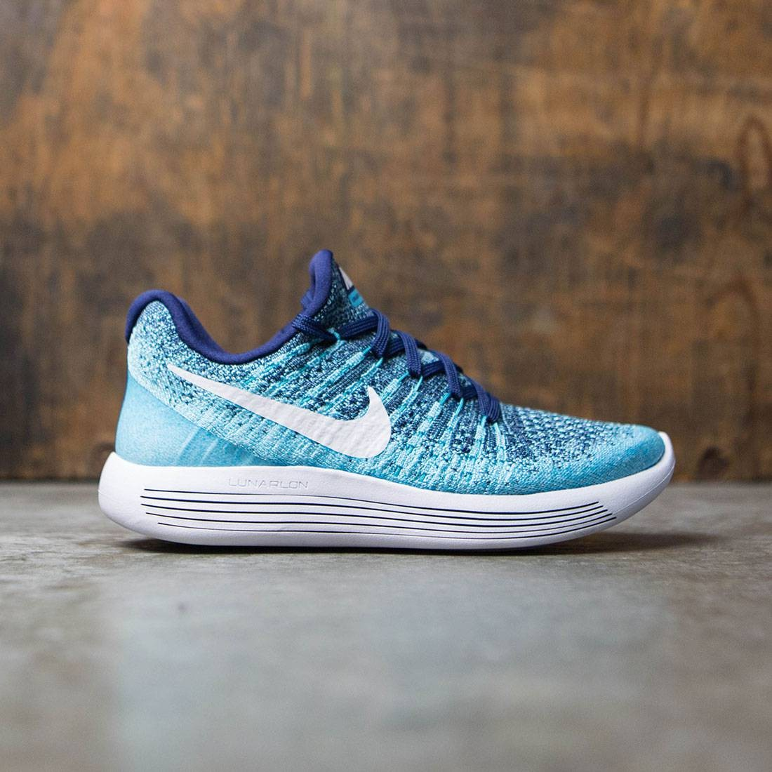 Nike Women Lunarepic Low Flyknit 2 Running (binary blue / white-polarized blue)