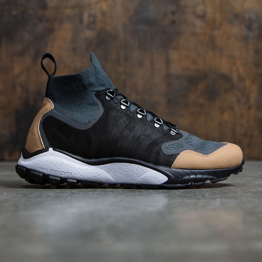 ba0434fed8cab Nike Men Air Zoom Talaria Mid Flyknit Premium (anthracite   black-vachetta  tan-dark grey)