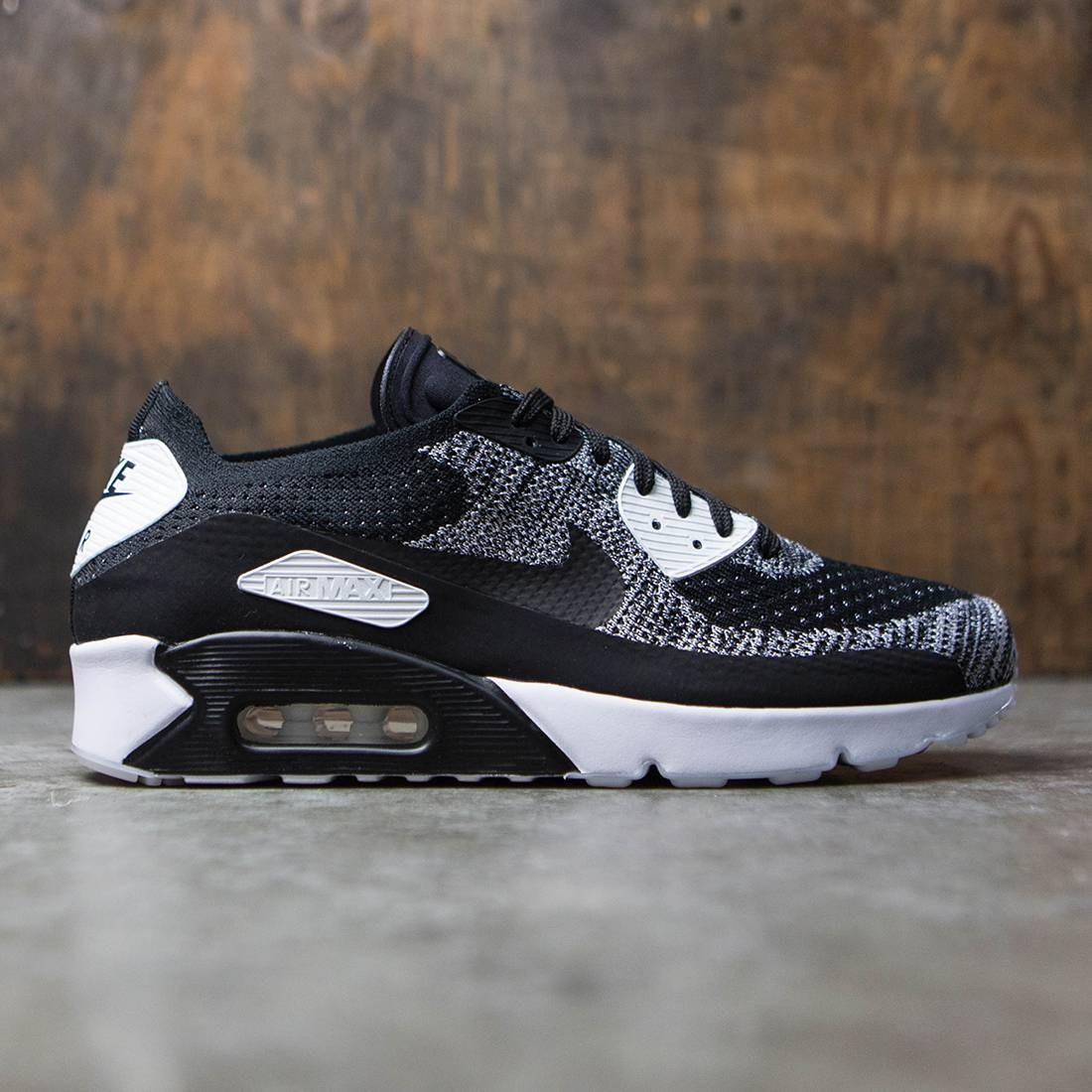 61a3e9f413c21 Nike Men Air Max 90 Ultra 2.0 Flyknit (black   black-white)