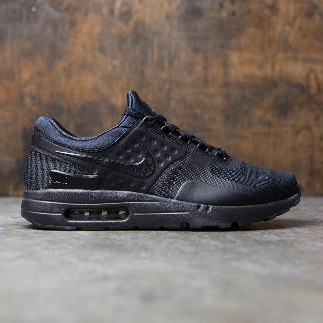 pretty nice ea481 28d65 nike men air max zero essential black black black