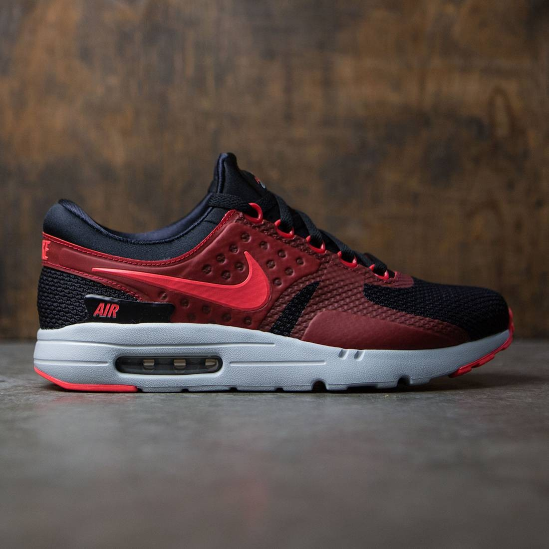 buy popular 2e0ae f710a nike men air max zero essential black bright crimson gym red wolf grey