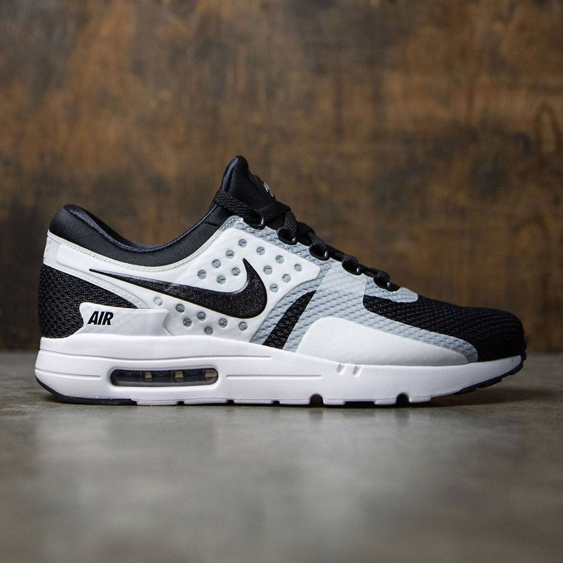 separation shoes 1e3c2 7dd09 nike men air max zero essential white black black
