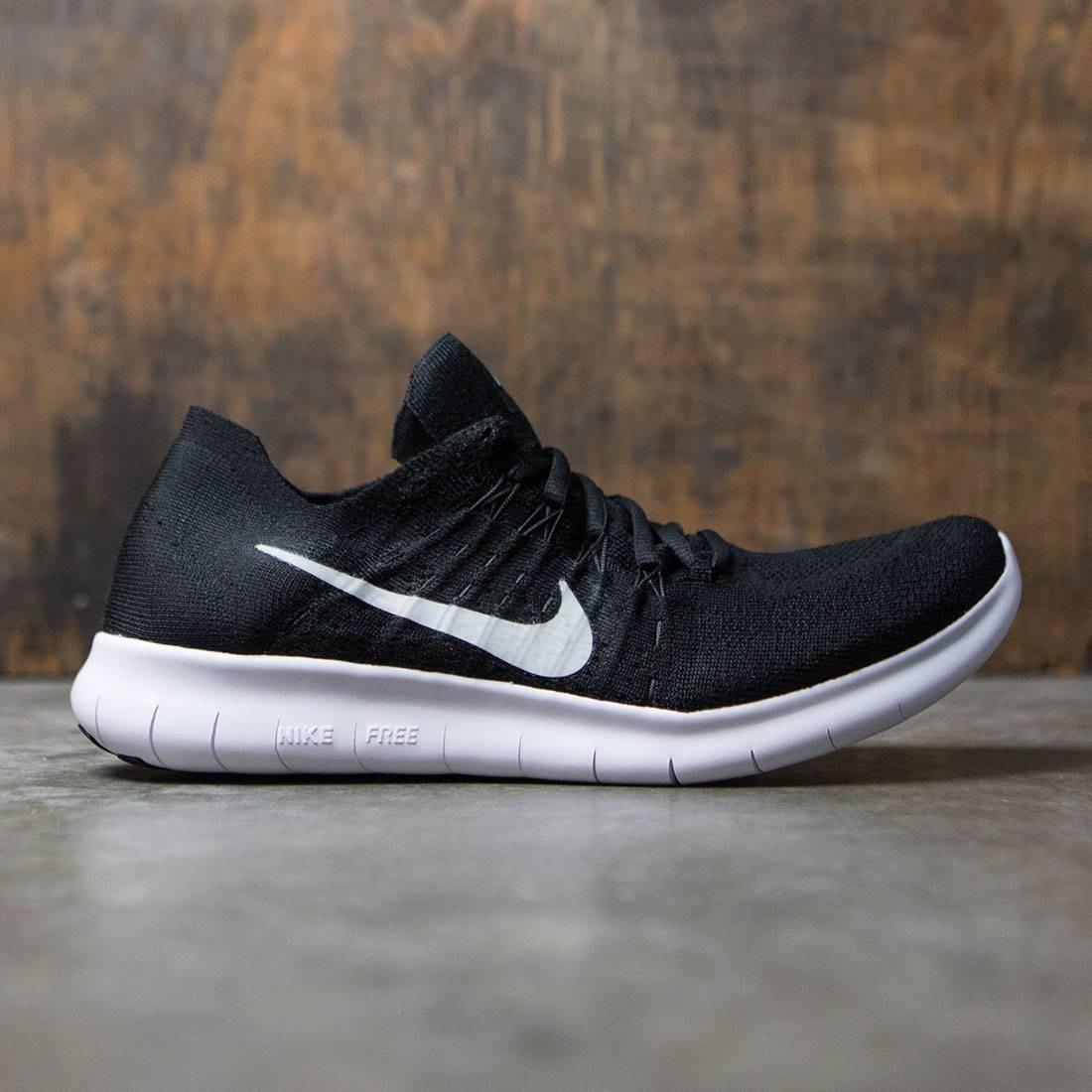 low priced ccd07 7df0a nike men free rn flyknit 2017 running black white black