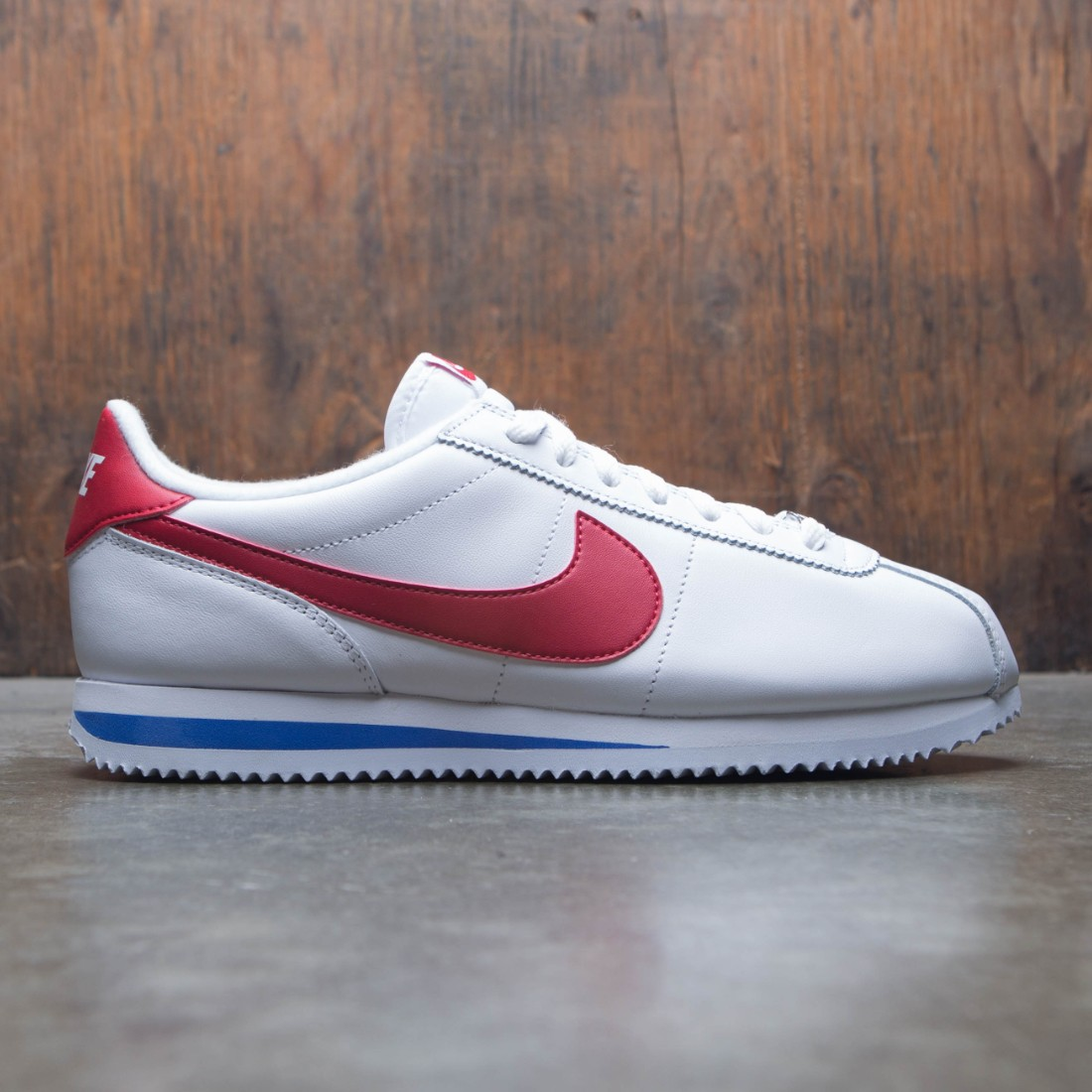 2ab23925f13a nike men cortez basic leather og white varsity red varsity royal