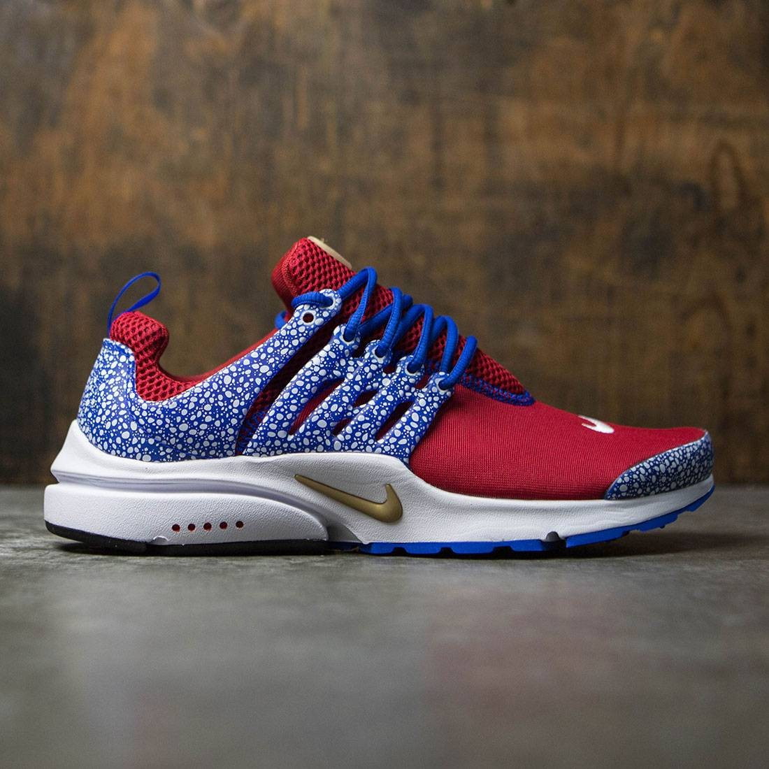 online store 82f90 6ccf1 nike men air presto qs safari pack red gym red racer blue wh