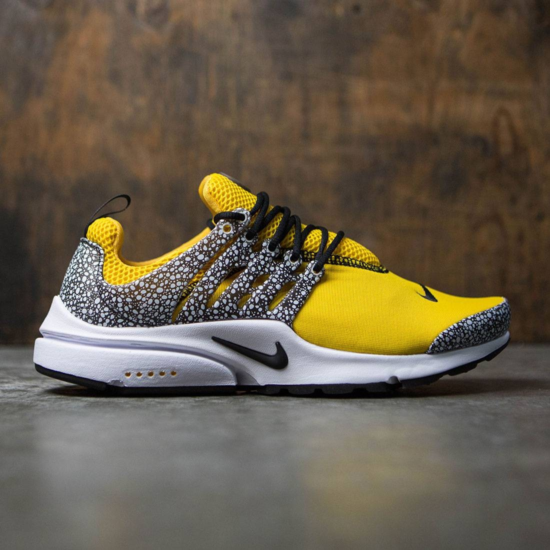 ... nike men air presto qs safari pack yellow university gold black white  ... 220f91acd