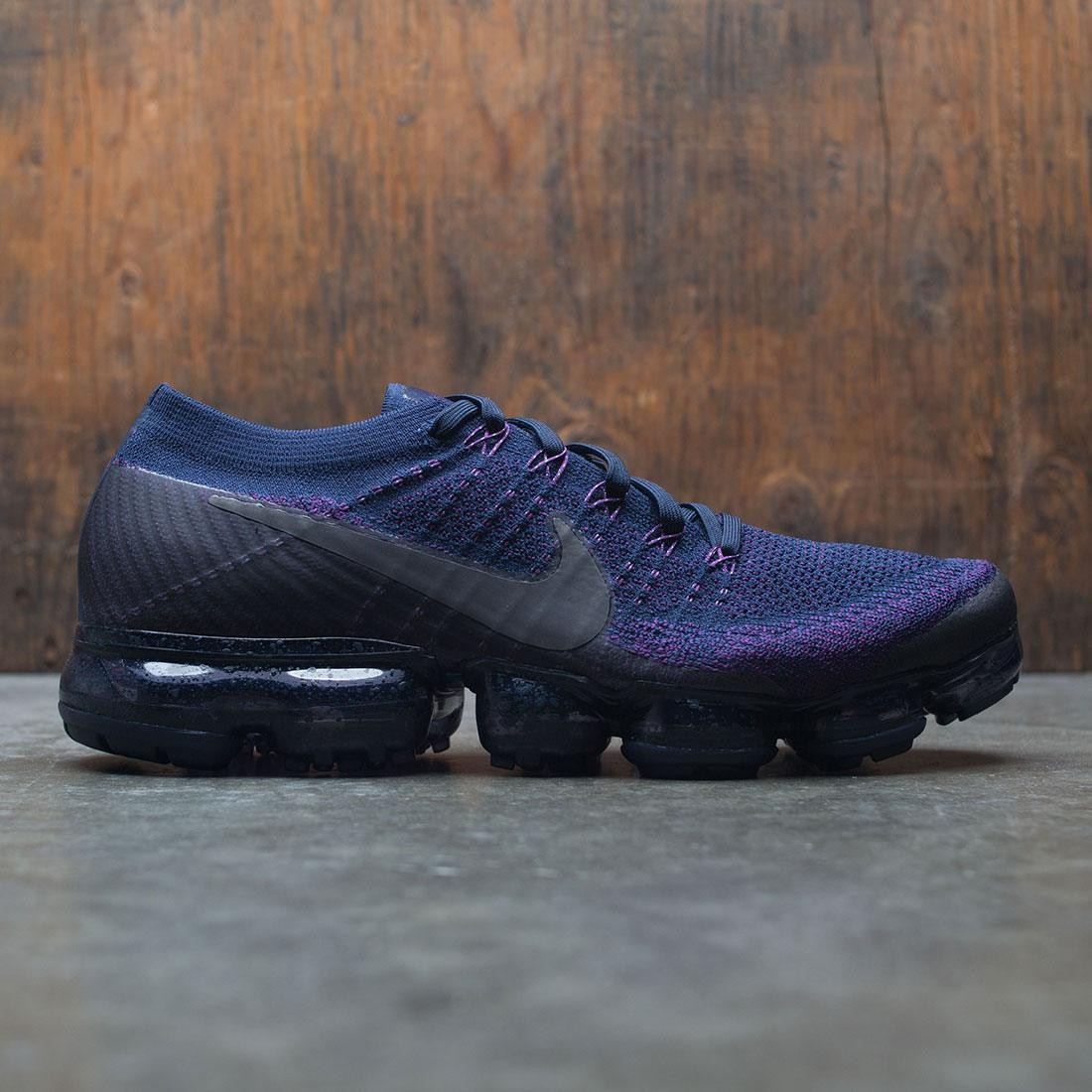 nike men nikelab air vapormax flyknit running navy dark grey night purple 81bb074da