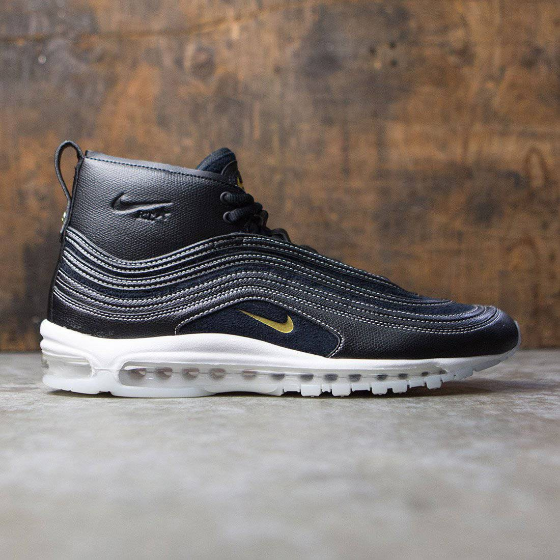 pretty nice ac106 d2d3e nikelab riccardo tisci men air max 97 mid black metallic gold anthracite  white