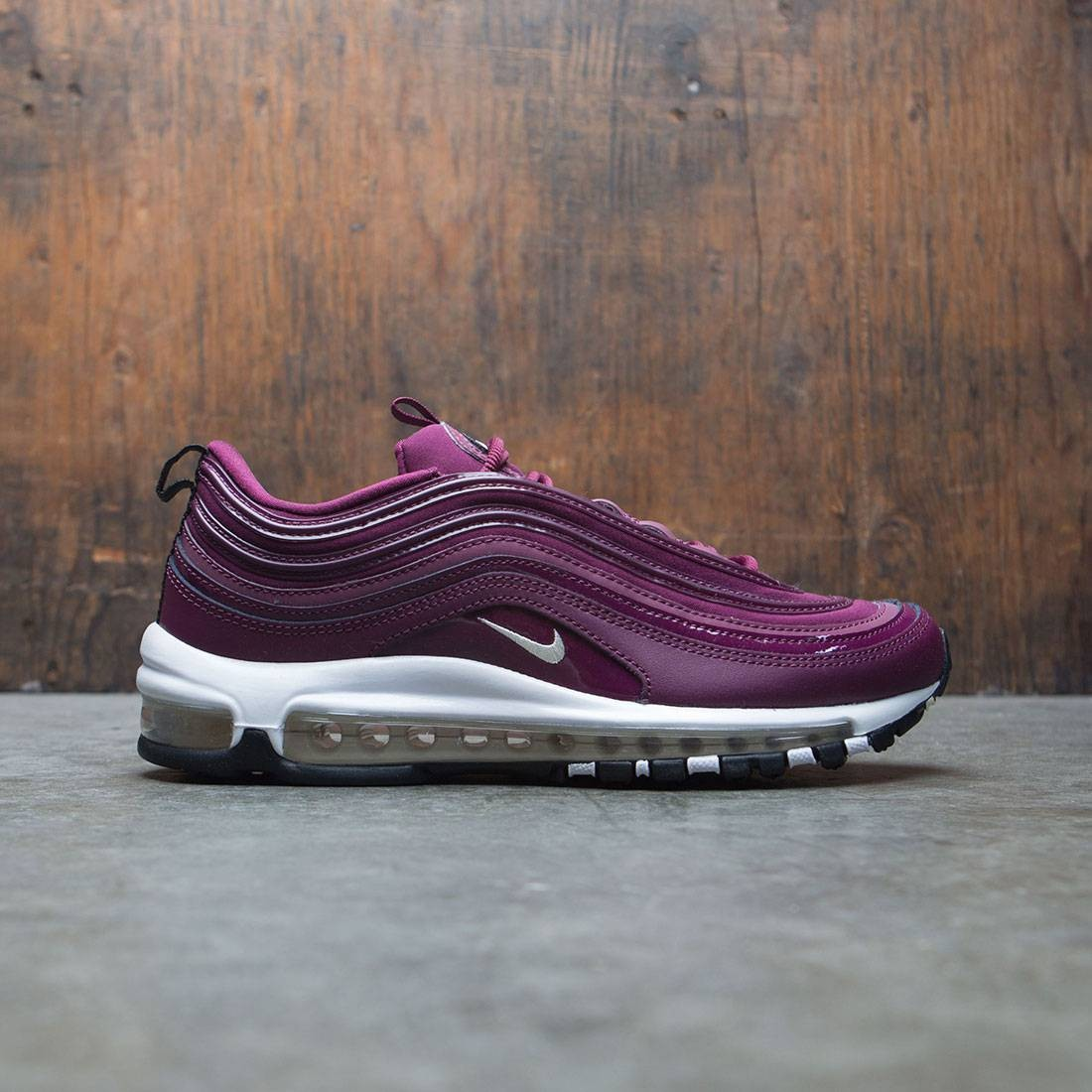 nike women air max '97 premium bordeaux muslin black