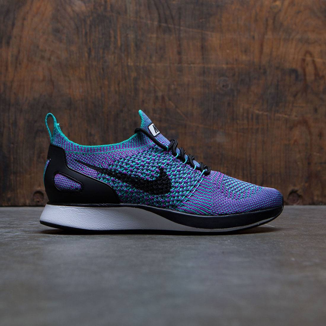 2d5e24b798dd nike women air zoom mariah flyknit racer clear jade black vivid purple white