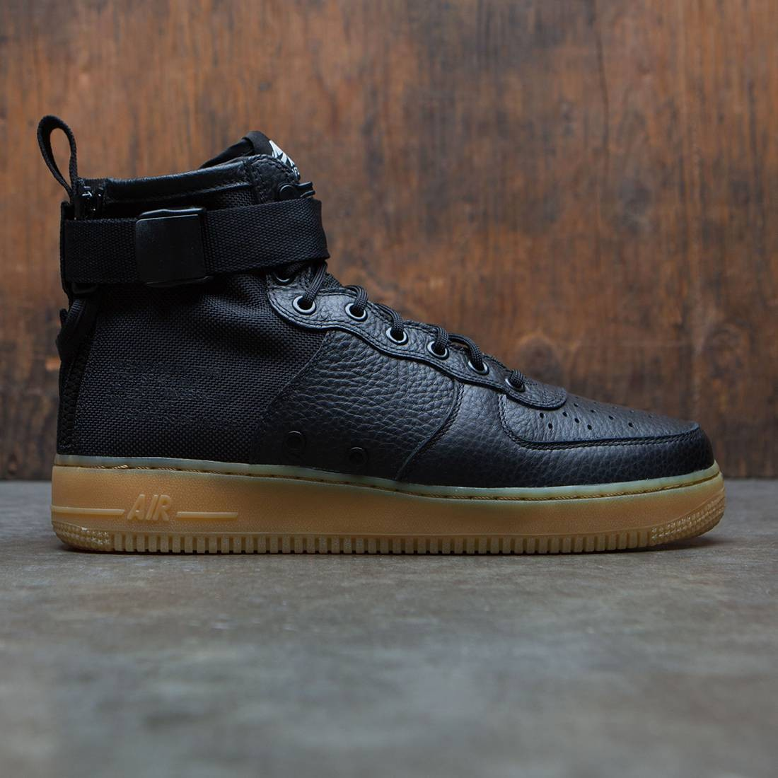 new style 43944 783de nike men sf air force 1 mid black black gum light brown