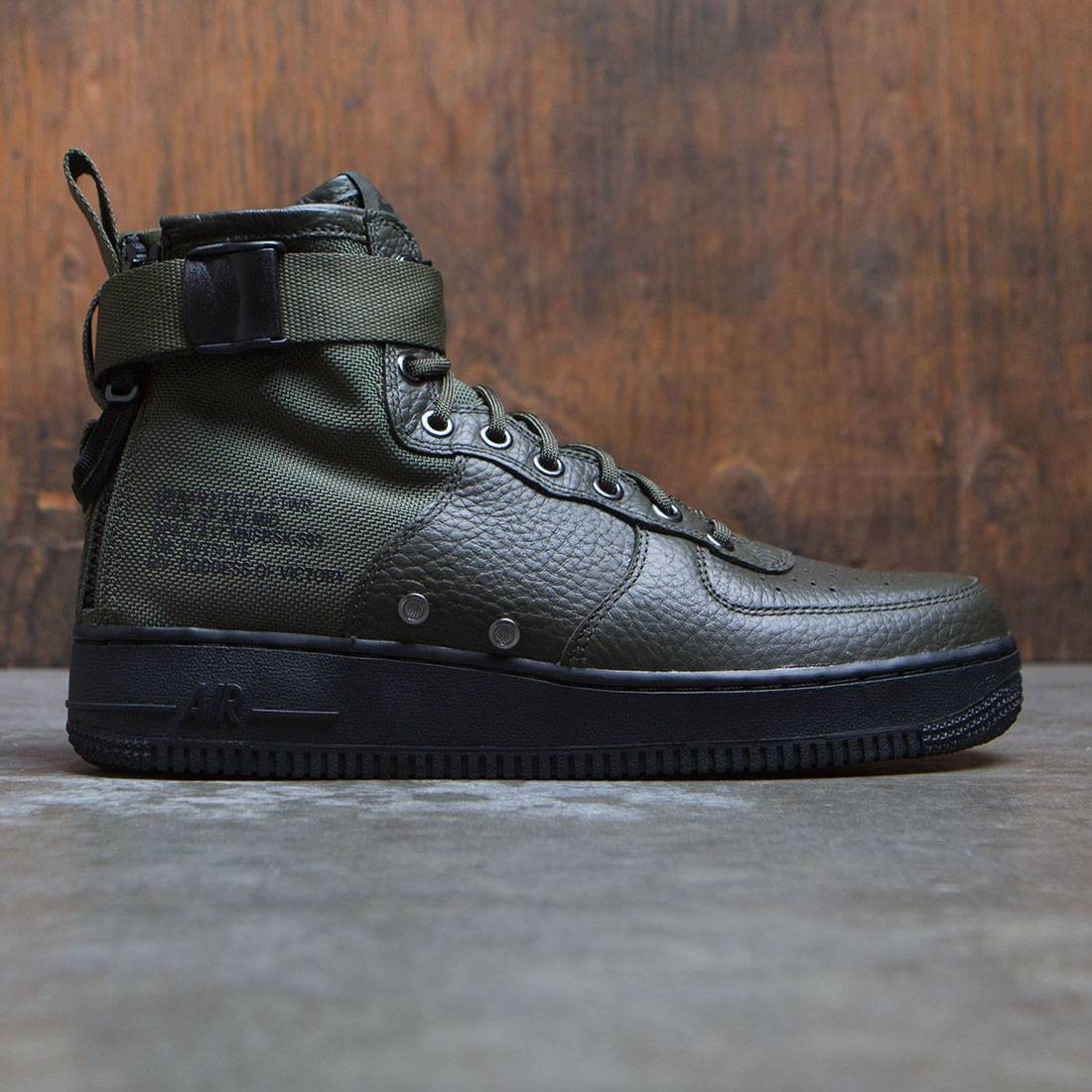 finest selection 841c4 34fa2 nike men sf air force 1 mid olive sequoia sequoia black