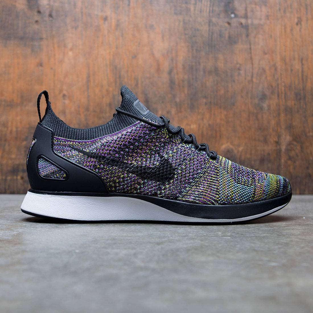 Nike Men Air Zoom Mariah Flyknit Racer (black black vivid purple bright citron)