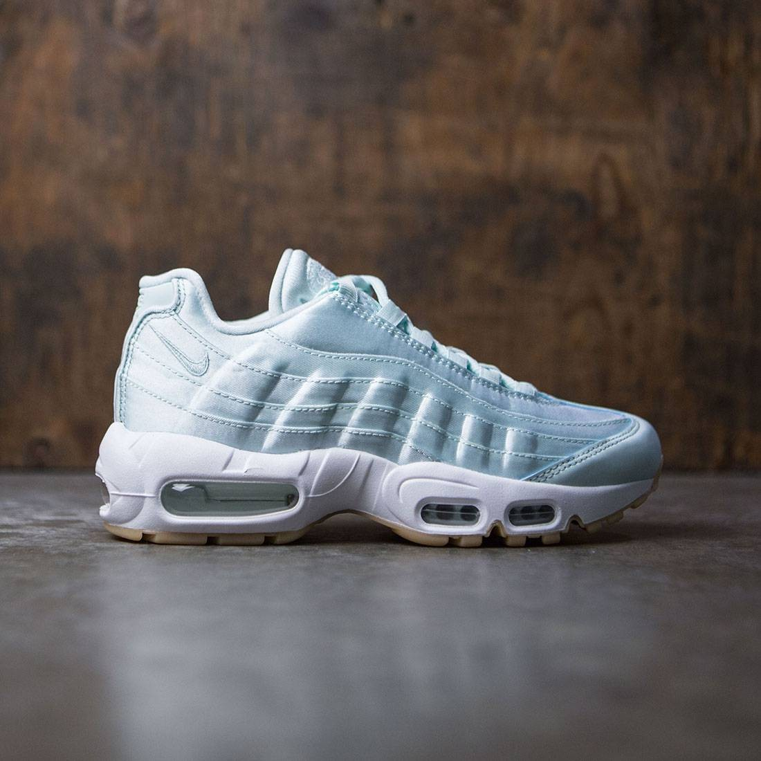 exclusive shoes good texture top quality Nike Women Wmns Air Max 95 Wqs (blue / fiberglass-white-gum yellow)