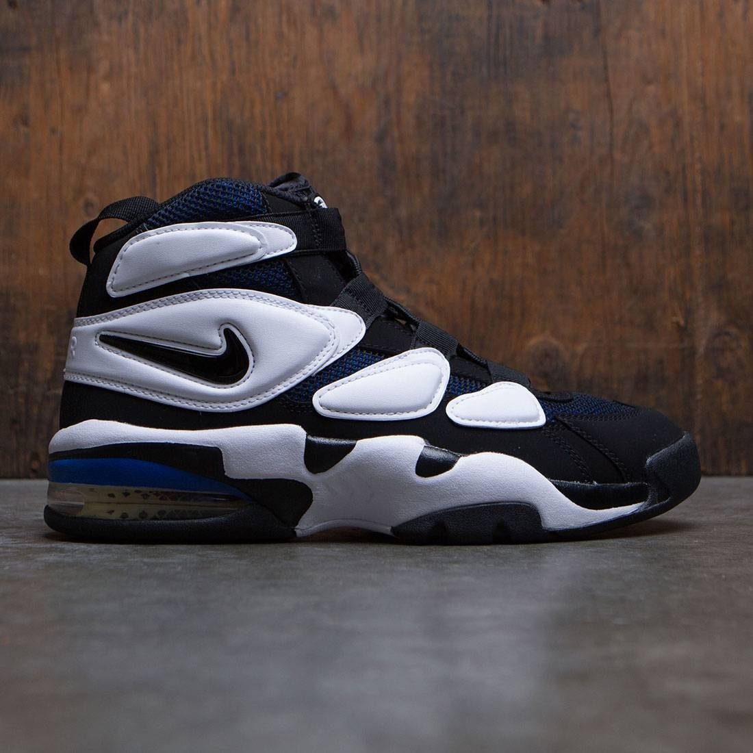 newest c0f26 e5780 nike men air max 2 uptempo  94 white black royal blue lemon twist