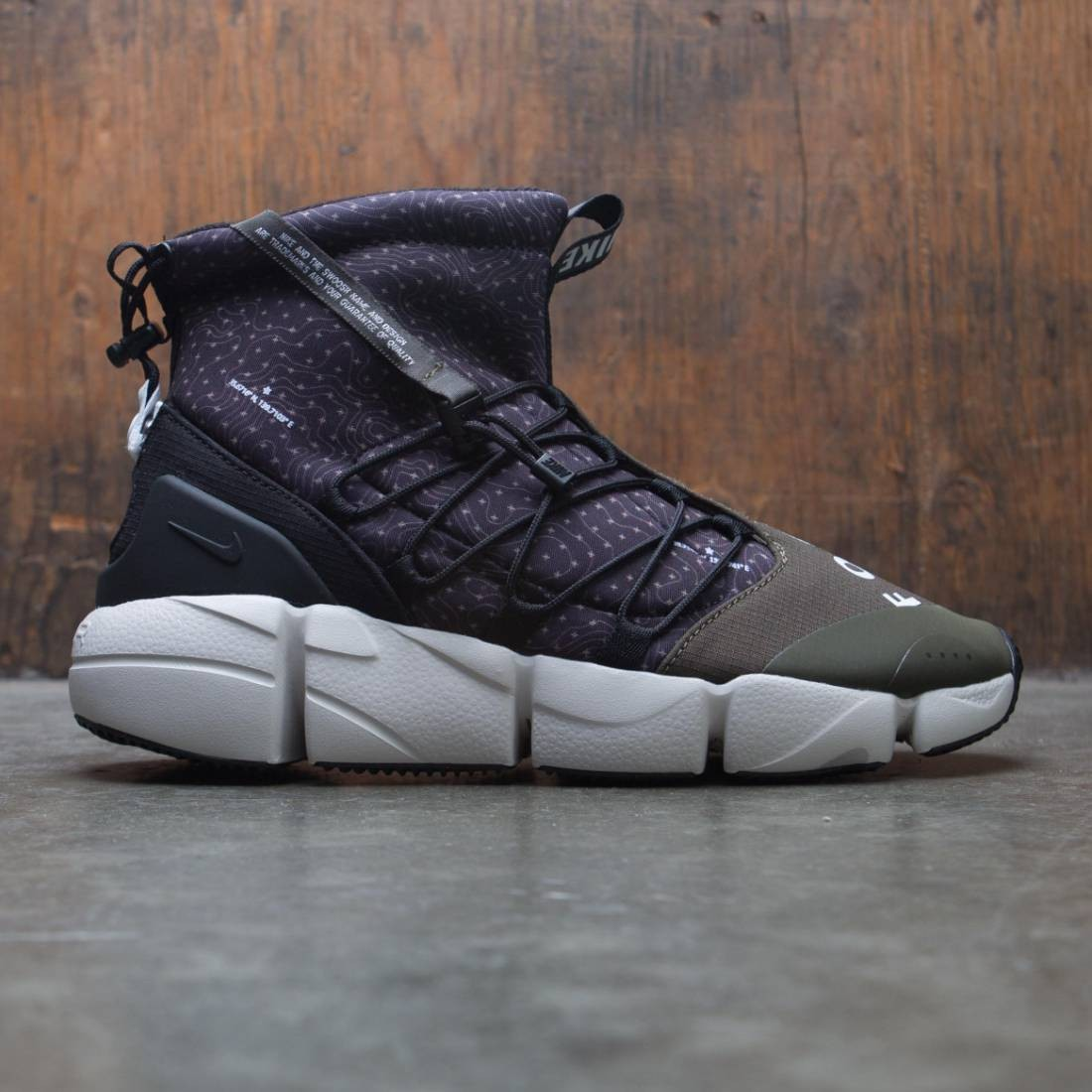 Nike Men Air Footscape Mid Utility (black / white-cargo khaki-light bone)